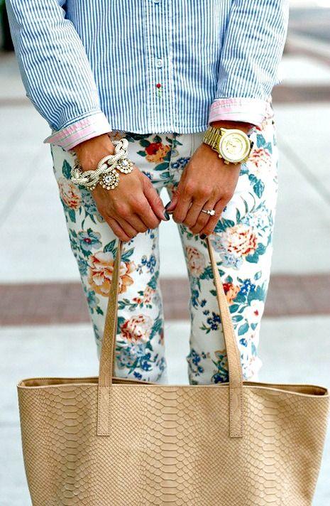 Trending: Floral Pants for Spring